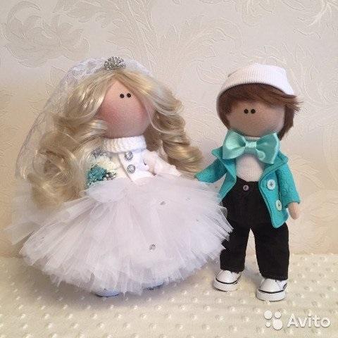 Куклы свадебные ручной работы 007