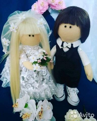 Куклы свадебные ручной работы 008