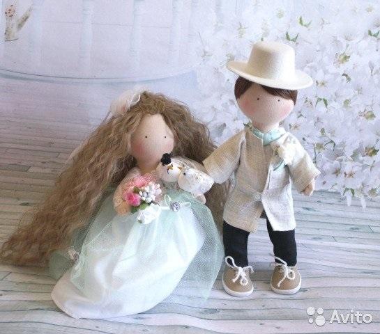 Куклы свадебные ручной работы 010