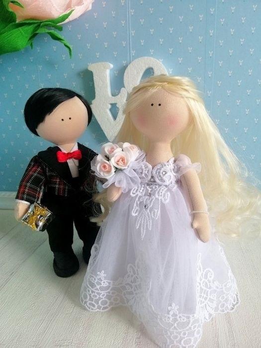 Куклы свадебные ручной работы 013