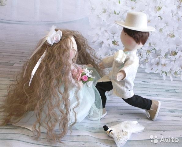 Куклы свадебные ручной работы 016