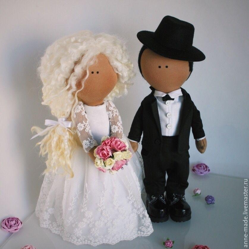 Куклы свадебные ручной работы 017