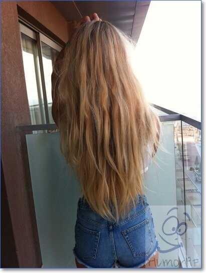Лучшие фото девушек без лица с русыми волосами на аватарку013