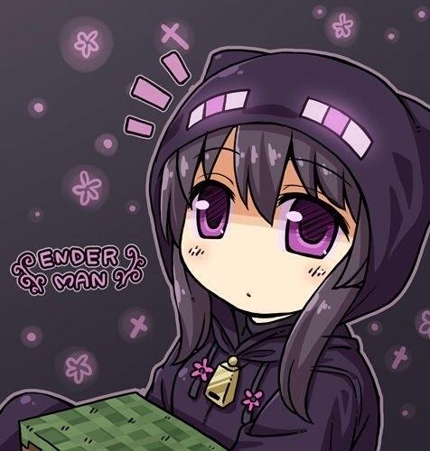 Майнкрафт аниме эндермен 008