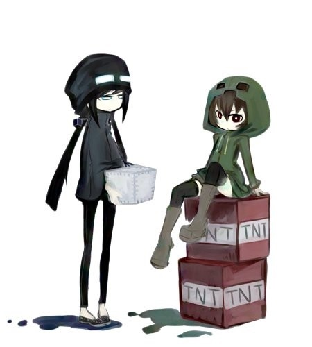 Майнкрафт аниме эндермен 016