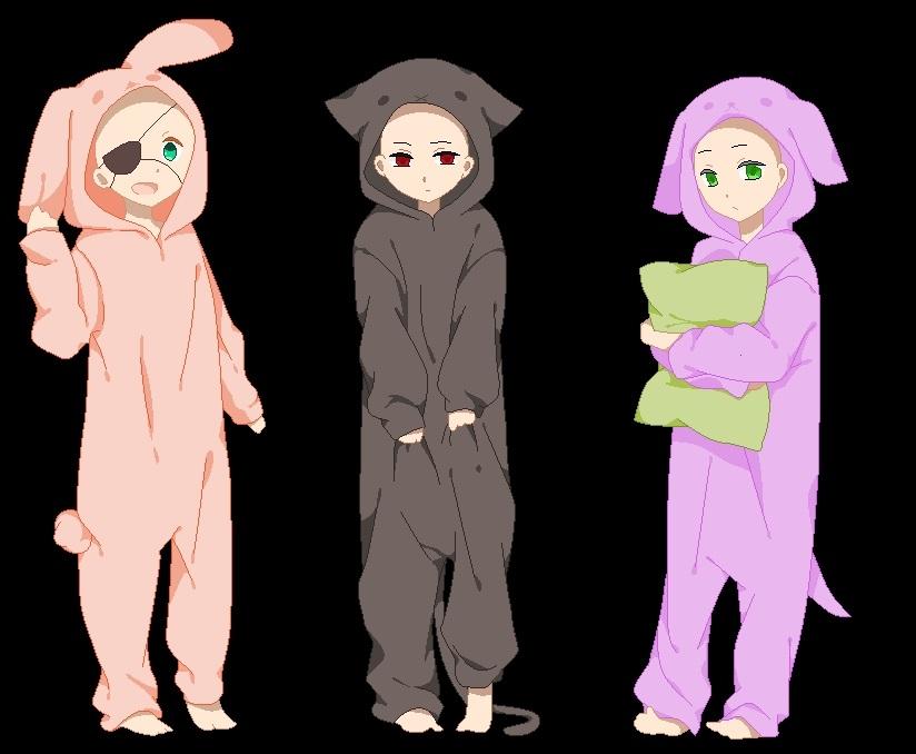 Манекены аниме пара 002