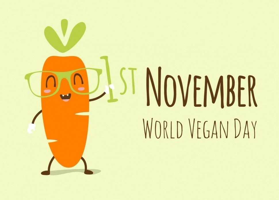 Международный веганский день (World Vegan Day)   красивая открытка 012
