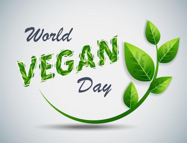 Международный веганский день (World Vegan Day)   красивая открытка 018