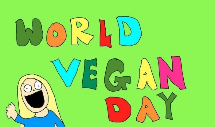 Международный веганский день (World Vegan Day)   красивая открытка 019