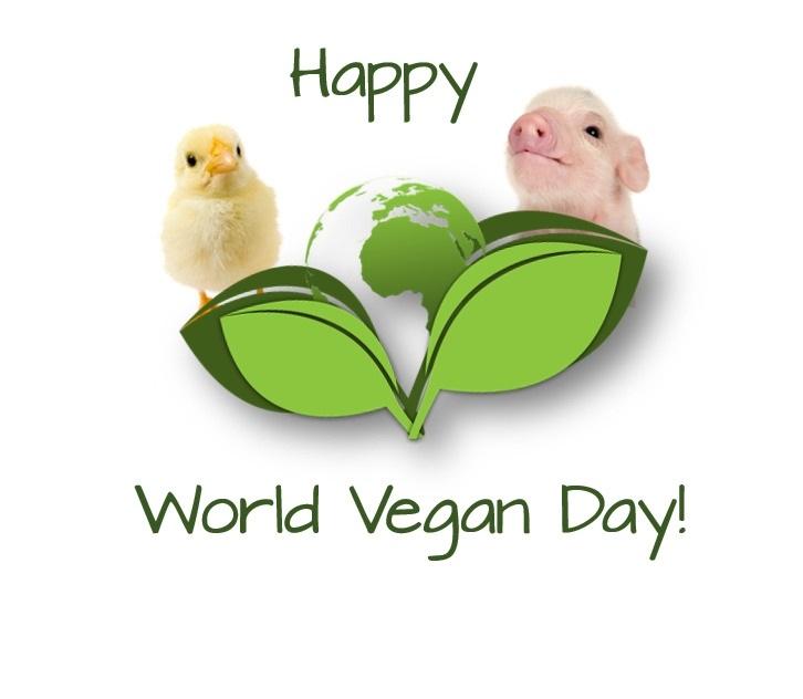 Международный веганский день (World Vegan Day)   красивая открытка 020