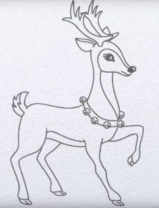 Олень рисунок детский 023