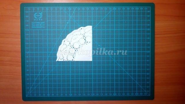 Открытка зонтик из салфетки 016
