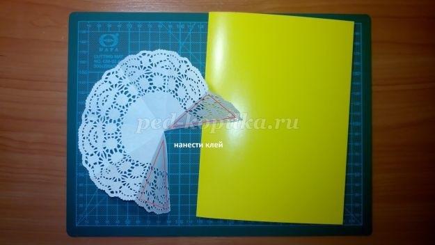 Открытка зонтик из салфетки 021