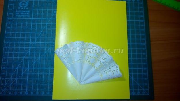 Открытка зонтик из салфетки 022