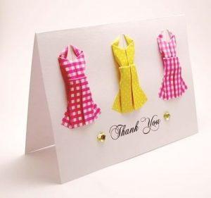 Открытки в виде платья 022