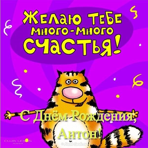 Открытки с днем рождения Антон 013