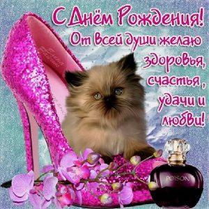 Открытки с котами на день рождения 024