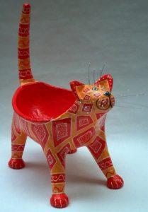 Папье маше котик   подборка идей с фото018