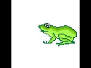 Пиксель арт лягушка 019