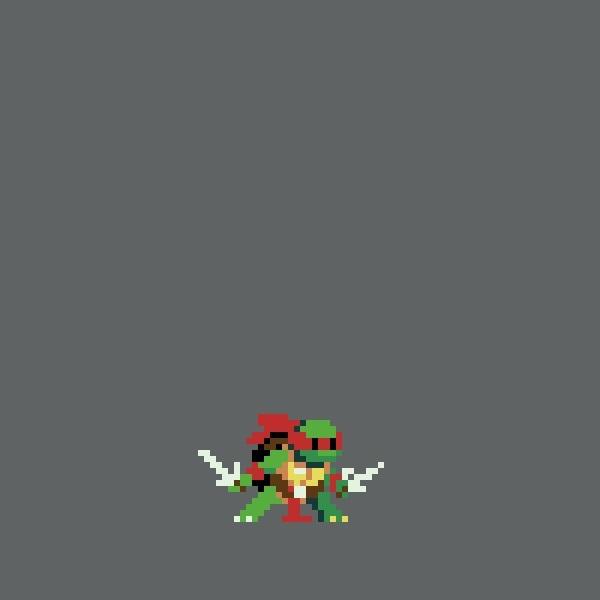Пиксель арт ниндзя 019