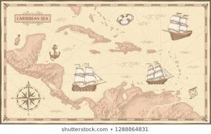 Пиратские старинные карты 017