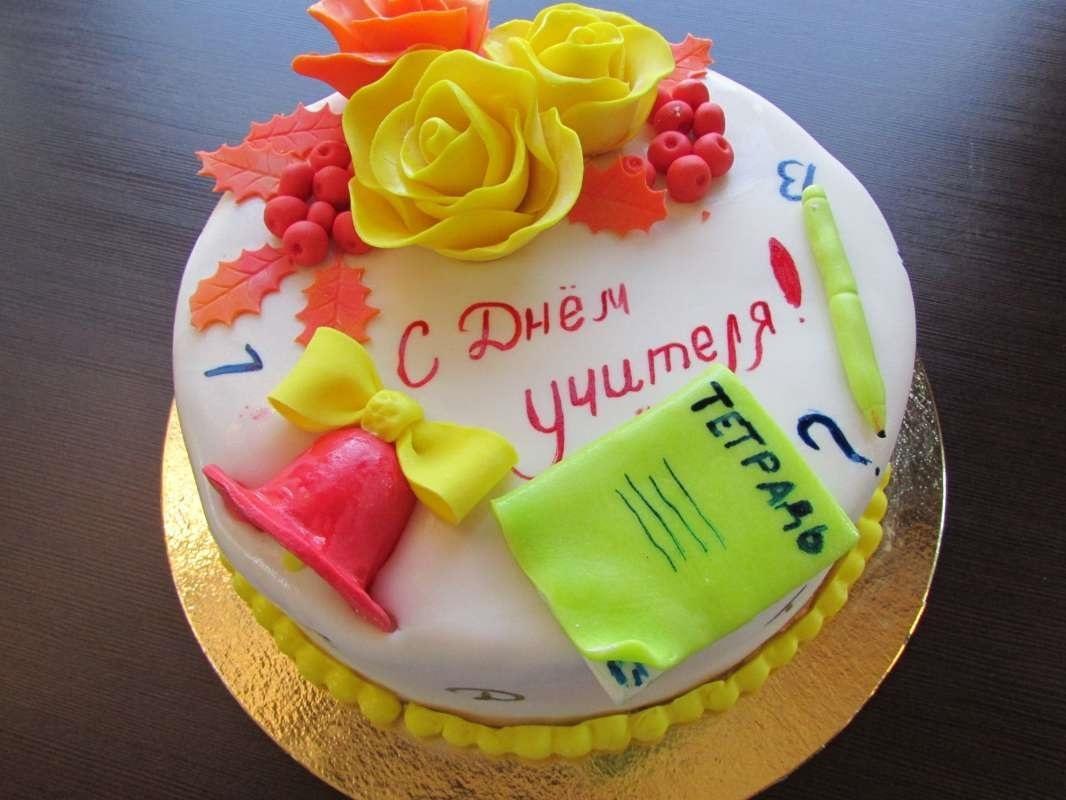 Прикольные идеи тортов на день учителя001