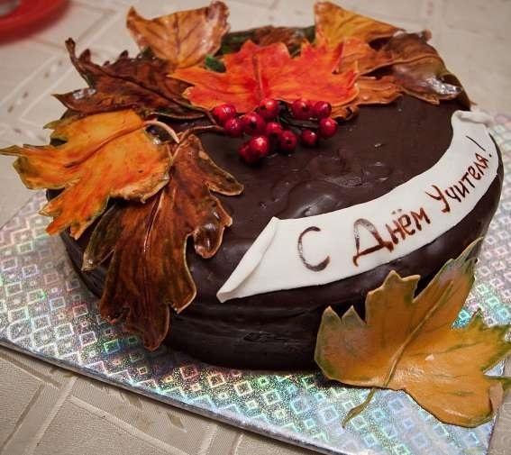 Прикольные идеи тортов на день учителя004