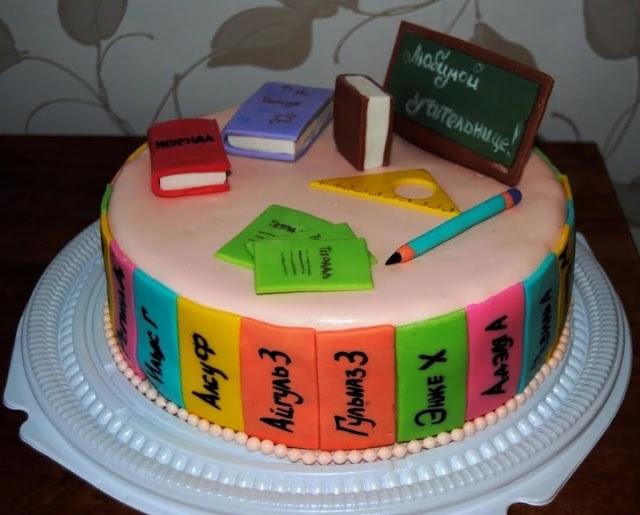 Прикольные идеи тортов на день учителя005