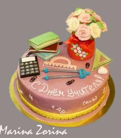 Прикольные идеи тортов на день учителя012