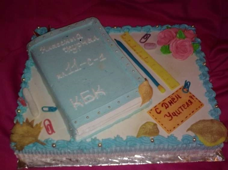 Прикольные идеи тортов на день учителя015