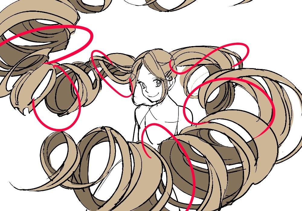 Развивающиеся на ветру волосы как нарисовать 024