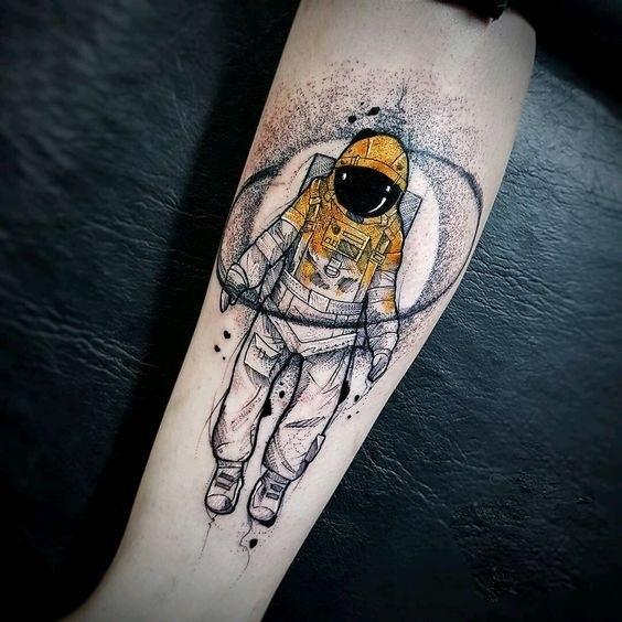 Ракета эскизы тату 015