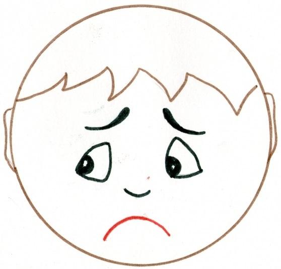 Картинки грустных лиц для детей
