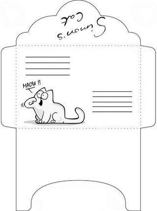 Распечатать конверты для лд черно белые 014