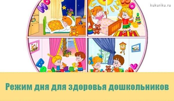 Распорядок дня в картинках для дошкольника 004