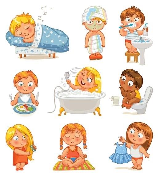 Распорядок дня в картинках для дошкольника 005