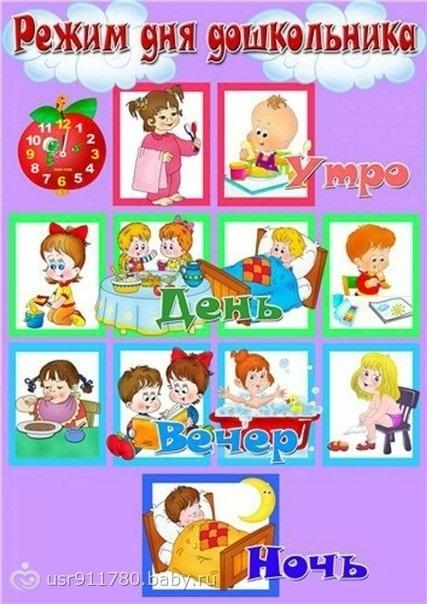 Распорядок дня в картинках для дошкольника 006