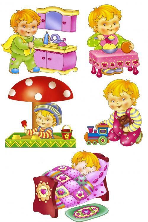 Распорядок дня в картинках для дошкольника 009
