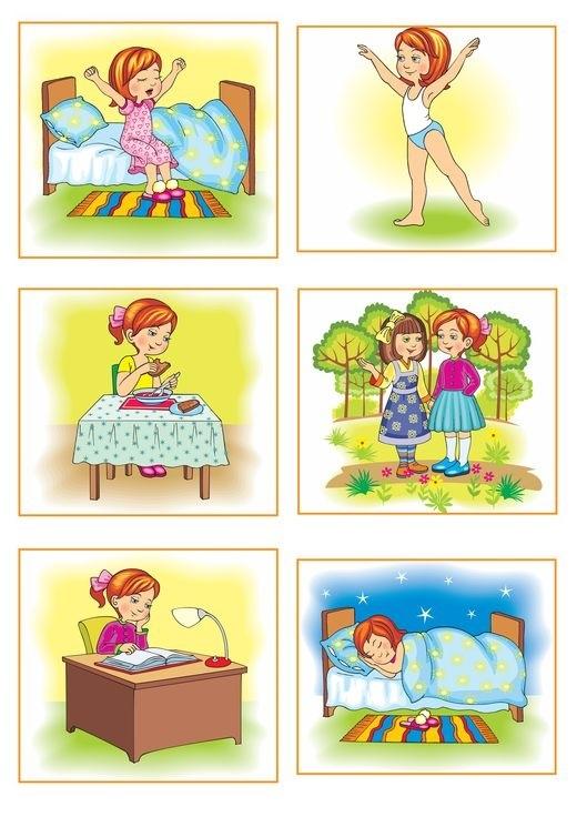 Распорядок дня в картинках для дошкольника 010