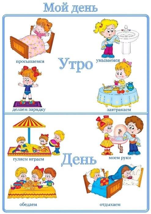 Распорядок дня в картинках для дошкольника 011