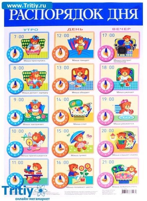 Распорядок дня в картинках для дошкольника 013