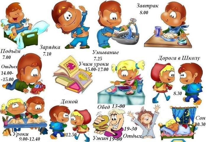 Распорядок дня в картинках для дошкольника 015