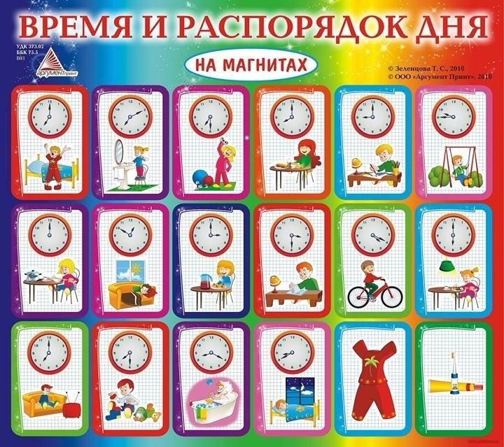 Распорядок дня в картинках для дошкольника 021