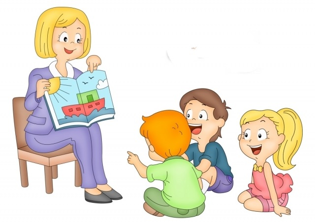 Рисунки воспитатель и дети в детском саду 008