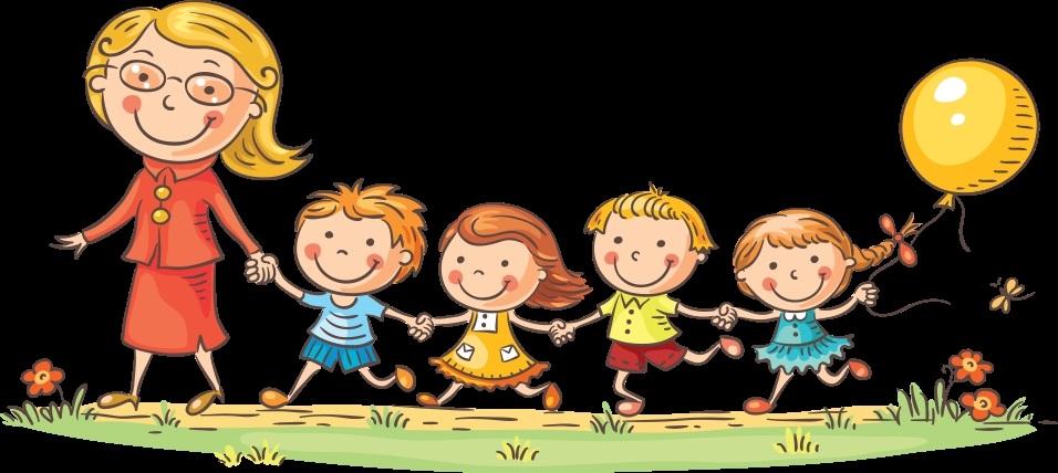 Рисунки воспитатель и дети в детском саду 016