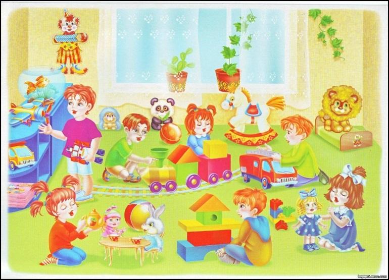 Рисунки воспитатель и дети в детском саду 020