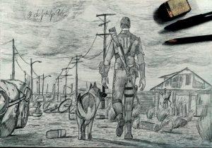 Рисунки фоллаут карандашом 023