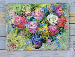 Рисунки цветов в стиле модерн 021