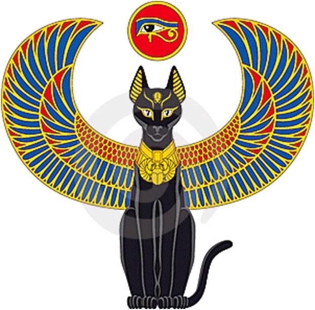 Рисунок египетской кошки 003