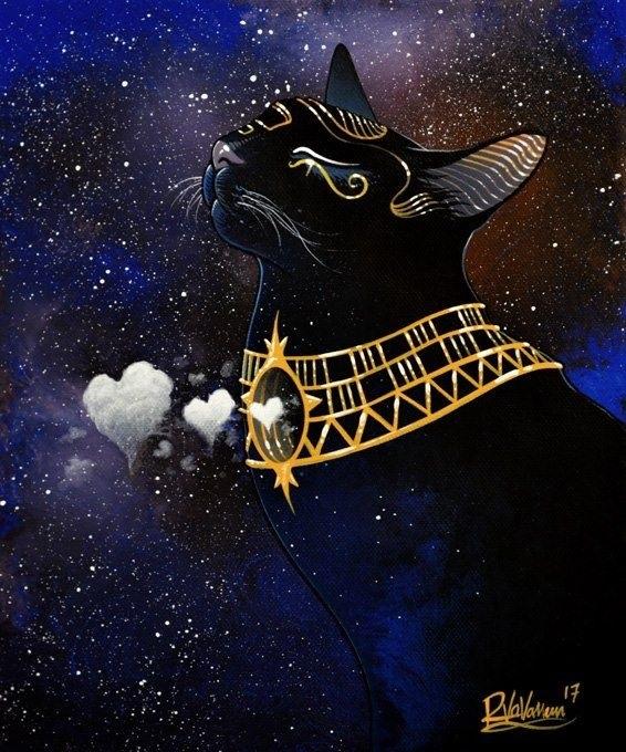 Рисунок египетской кошки 004